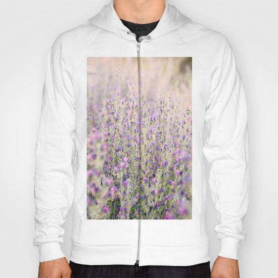Purple flowers Hoody