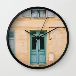 HOUSE WITH OPENED WINDOW AND CLOSED DOOR Wall Clock