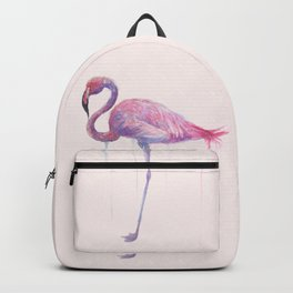 "Watercolor Painting of Picture ""Flamingo"" Backpack"