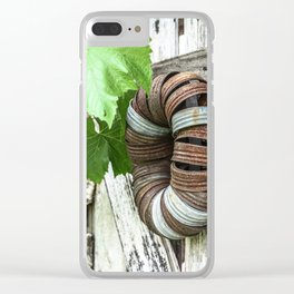 Rusty Wreath Clear iPhone Case