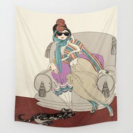 Gerda Wegener - Journal of Ladies and Fashions - 1912 Ray Ban On Cat & Lagdy Wall Tapestry