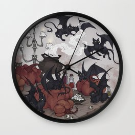 Samhain Kittens Wall Clock