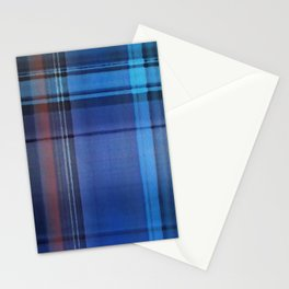 Plaid Blues Stationery Cards