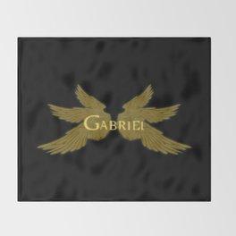 Archangel Gabriel Wings Throw Blanket
