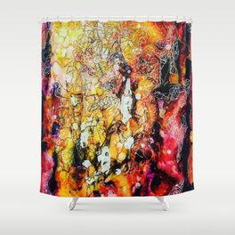 Connective Thoughts Shower Curtain