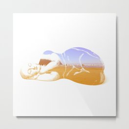Lazy Lady Metal Print
