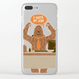 I Hate My Job Clear iPhone Case