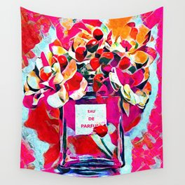 Perfume Pink Wall Tapestry