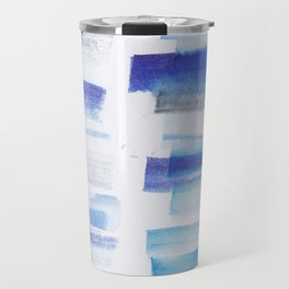 5| 181101 Watercolour Palette Abstract Art | Lines | Stripes | Travel Mug