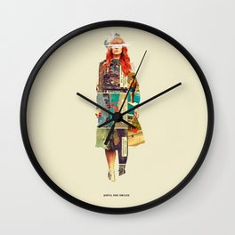 Until She Smiles Wall Clock