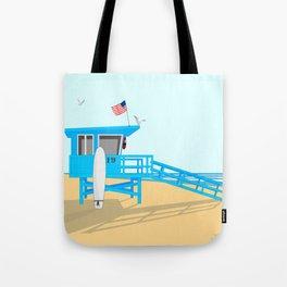 Lifeguard Tower Tote Bag