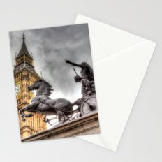 Big Ben and the Boadicea Statue London Stationery Cards