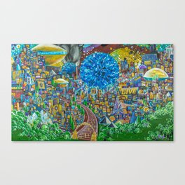the beauty we dreamt  Canvas Print