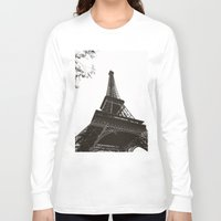eiffel Long Sleeve T-shirts featuring eiffel by samantha lawson