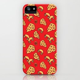 Mac and Cheese Pattern by Jen Montgomery iPhone Case