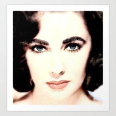 Elizabeth Taylor Face Art Print