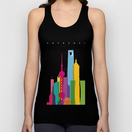 Shapes of Shanghai. Accurate to scale Unisex Tank Top