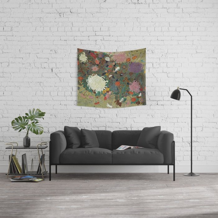 flower【Japanese painting】 Wall Tapestry