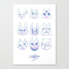 Chatons moches (Ugly Kitties) Canvas Print