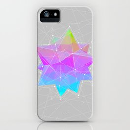 The Dots Will Somehow Connect (Geometric Star) iPhone Case