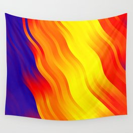 wavy lines pattern bry Wall Tapestry