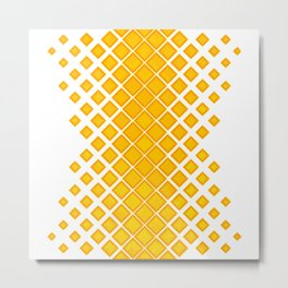 Diamonds Large to Small Yellow Metal Print