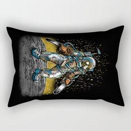 Texas Chainsaw Astronaut Rectangular Pillow