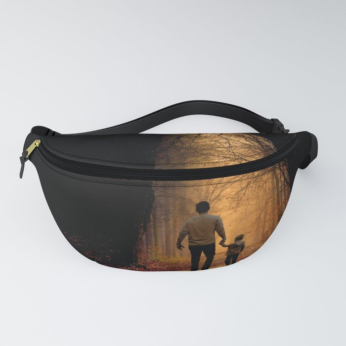 Father and Son in the Woods Fanny Pack