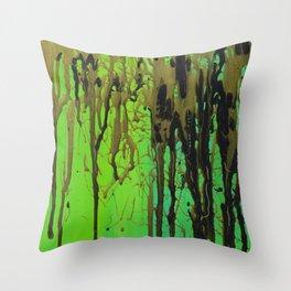 Green, Black, & Gold Throw Pillow