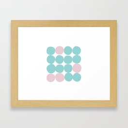 Happy dance of the dots Framed Art Print