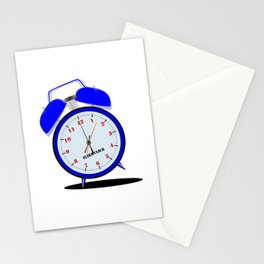 Ringing Loudly Alarm Clock Stationery Cards
