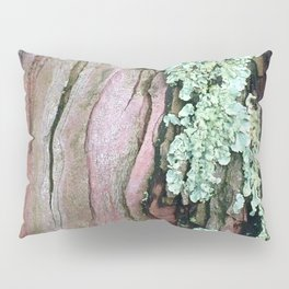 Tree Bark Pattern with Lichen #1 Pillow Sham