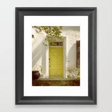 Yellow Door Framed Art Print