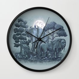 Midnight in the Stone Garden (colour option) Wall Clock