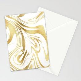 Elegant Liquid gold design. Stationery Cards