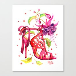 Fashion Shoes and Flowers #12 Canvas Print
