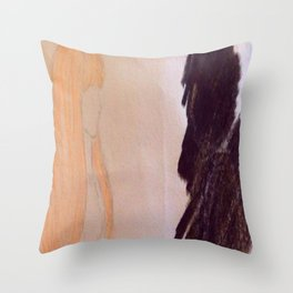 Shadow couple Throw Pillow