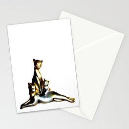 Two Cats And A Kitten Stationery Cards