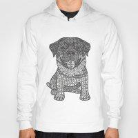 rottweiler Hoodies featuring Courageous- Rottweiler by DiAnne Ferrer