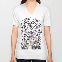 india V-neck T-shirts featuring India by Calinca Alcantara
