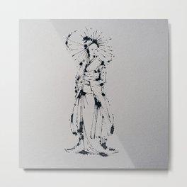 Splaaash Series - Kimono Girl Ink Metal Print