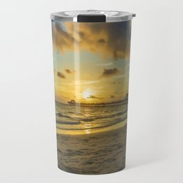 Naples Pier Sunset Travel Mug