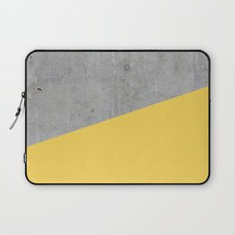 Concrete and Primrose Yellow Color Laptop Sleeve