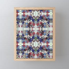 Red-White-Blue Crowded Garden Framed Mini Art Print