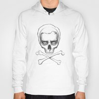house md Hoodies featuring Everybody Dies - House MD Skull Crossbones by Olechka