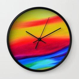 Sky Iridescence. Colourful abstract sky art Wall Clock