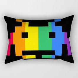 Rainbow Space Invader Rectangular Pillow