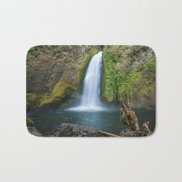 Wahclella Falls in the Columbia River Gorge, Oregon - Taken Same Day the Eagle Creek Fire Started Bath Mat