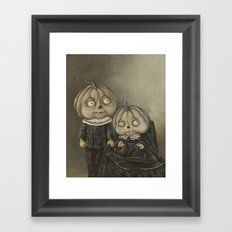 Rucus Studio Ghoul Kids Pumpkins Framed Art Print