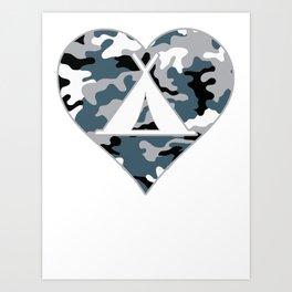 I love Camping Camuflage Art Print